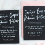 black and pink calligraphy invitations image